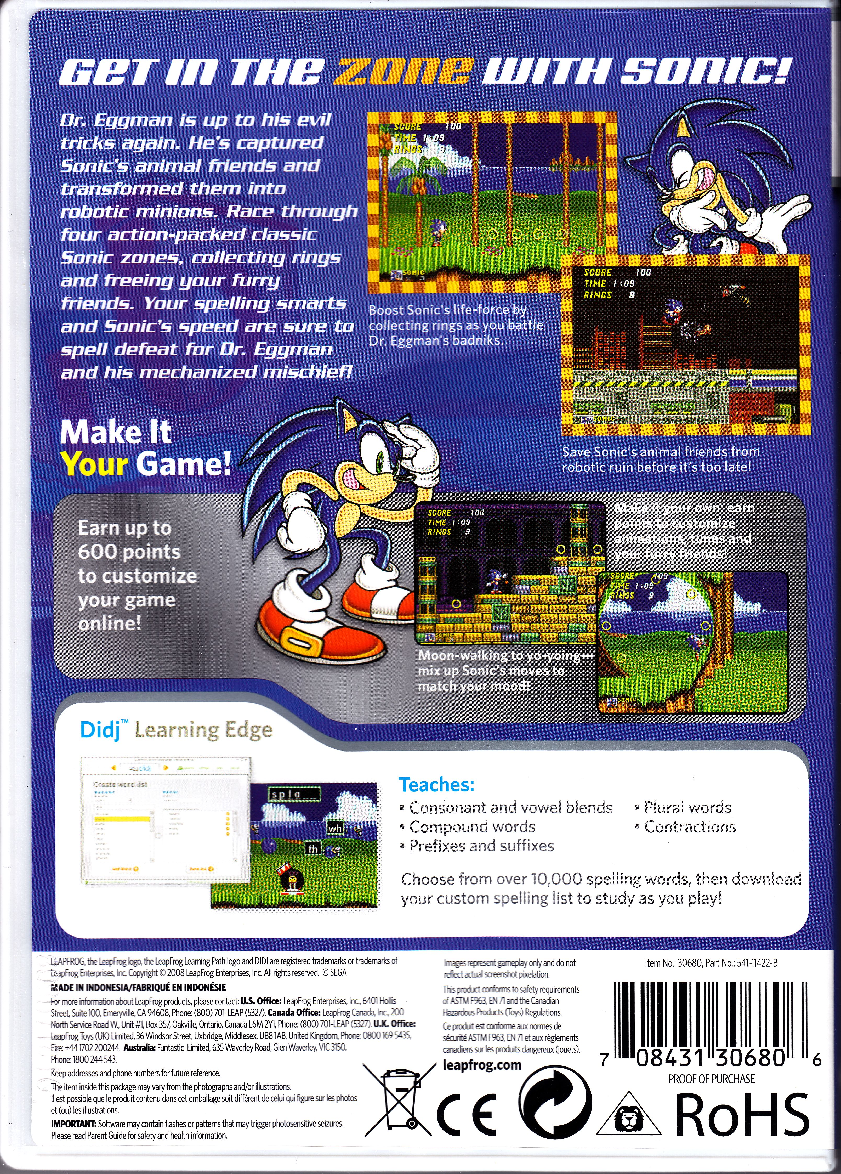 name front cover back cover indiana jones sonic the hedgehog