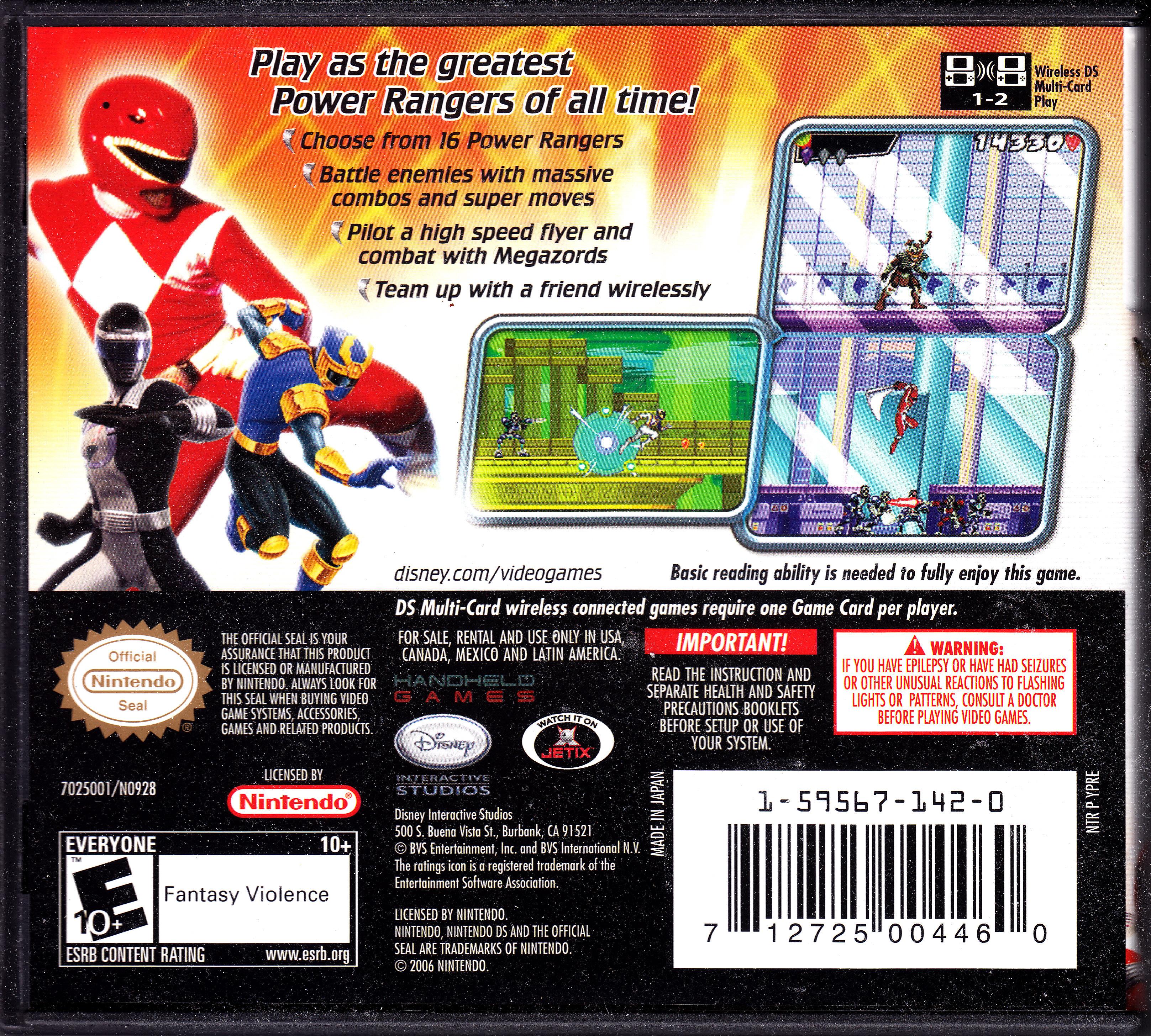 Nintendo Ds Walkthrough Power rangers su...
