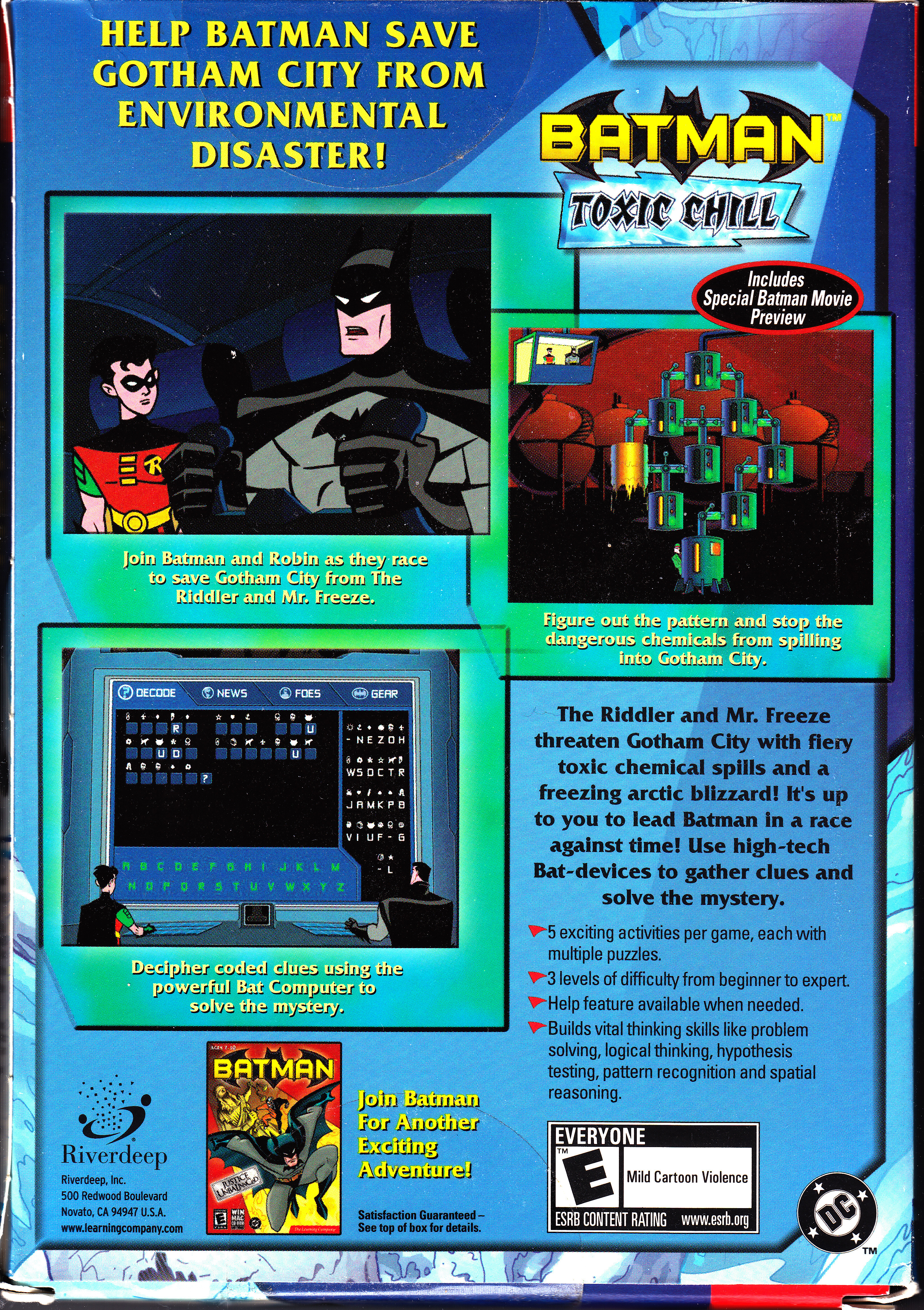 Batman: toxic chill screenshots for windows mobygames.