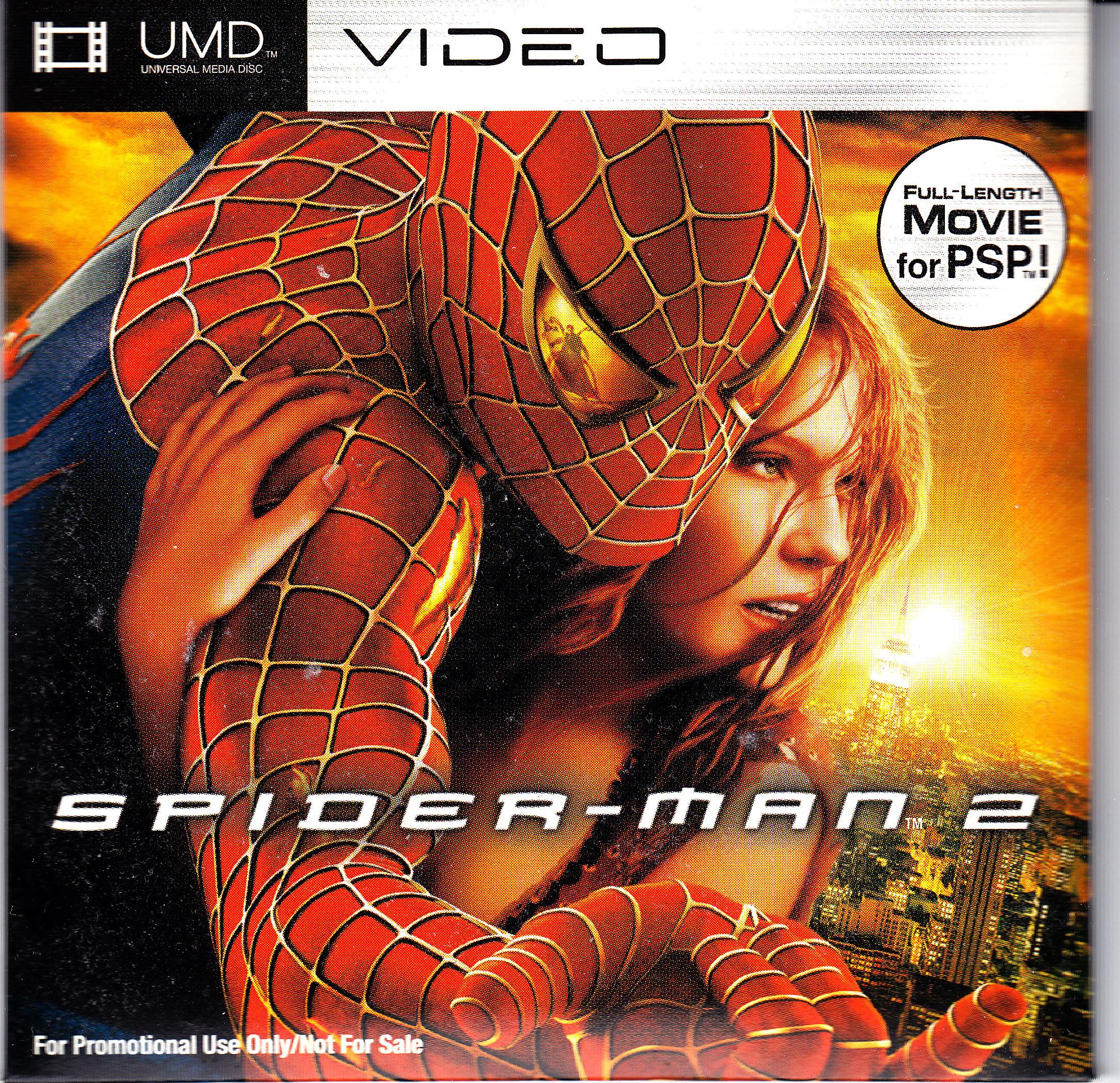 PSP UMD Movie Spider Man 2 Front Cover