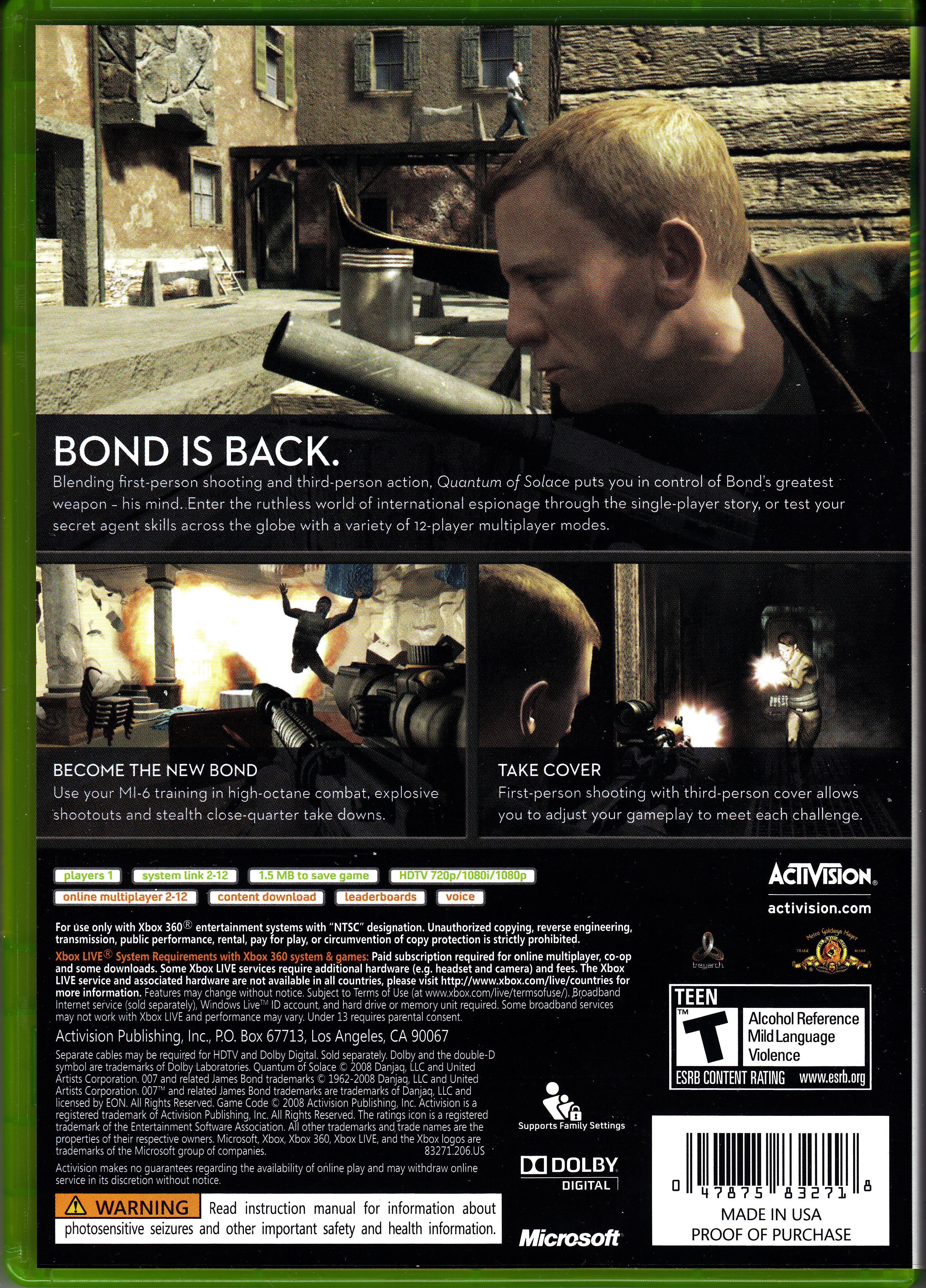 Xbox 360 Game Cover Back Index of /Video Games/...