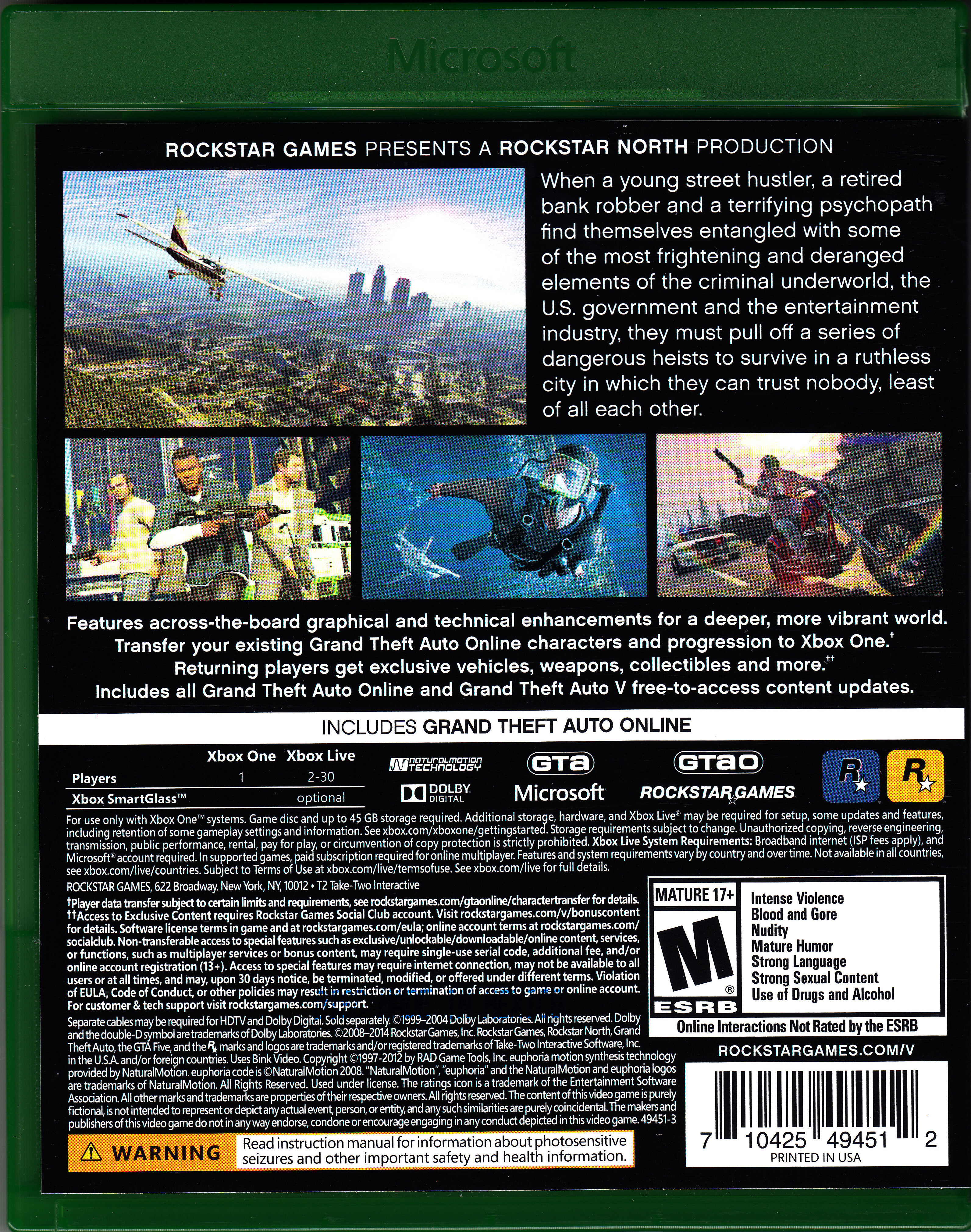 Xbox One Game Cover Back TrueGamers.org • Ver...