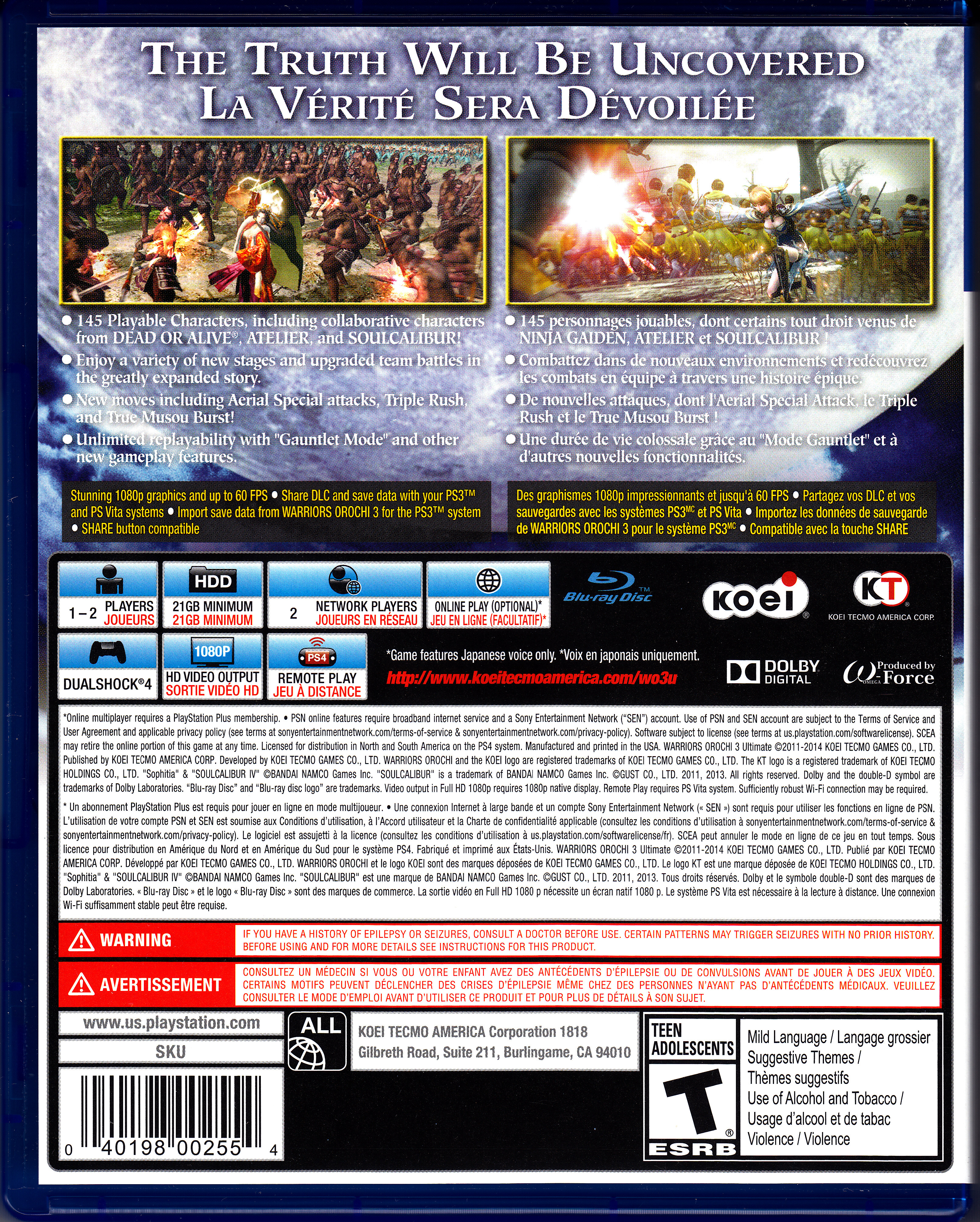 Warriors Orochi 4 Cover: Index Of /Video Games/Collection/Sony PlayStation 4/Scans